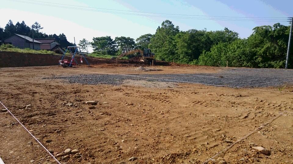 公園予定地 土地の整備